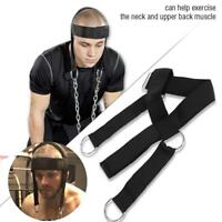 Nylon Head Weight Lifting Harness Neck Strap Strength Fitness Exercise Gym Belt