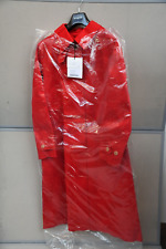 NEW MACKINTOSH FAWN STORM TRENCH COAT IN RED SIZE - UK 16 (XL)
