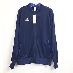 Adidas Mens Large Jacket Condivo 18 Full Zip Navy Training Track $65 NWT