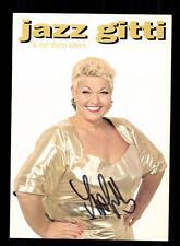 Jazz Gitti Autogrammkarte Original Signiert ## BC 95669