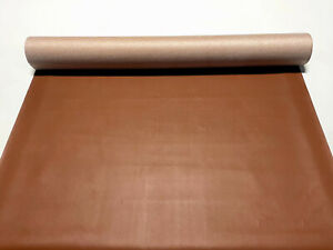 """Walnut Brown Faux Leather Vinyl Fabric 10 Yards Pleather Car Upholstery 54"""" W"""
