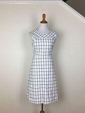 J. Crew NEW Sleeveless A-line Dress In Windowpane Tweed  $138 Size 6P Item F2917