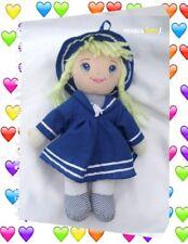 Doudou Poupée Chiffon Robe Chapeau Bleu Et Blanc Simba Toys GmbH 35 cm