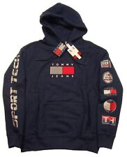 Tommy Hilfiger Jeans Men's Navy Sport Tech Logo Terry Pullover Hoodie