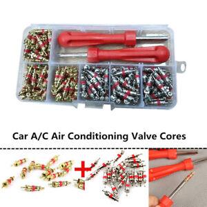 242x R134a Copper Car A/C Air Conditioning Valve Cores Auto Air Con Remover Tool