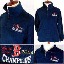 VTG 2004 Boston Red Sox WORLD SERIES CHAMPS 1/4 Zip Fleece jacket/Mens MEDIUM M