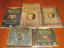 3 PC GAMES IN 1 AUCTION: BALDUR'S GATE, BG II: THRONE OF BHAAL & SHADOWS OF AWN