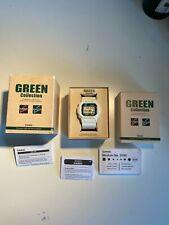 Casio G Shock Reloj Cuadrado Colección Verde Resistente Solar Blanco G 5600GR Rara