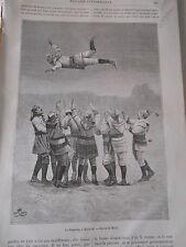 Gravure 1887  Le Bouncing à Montréal divertissement Canadien