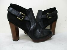 a927cdfef17 Sam Edelman LULU Black Leather Suede High Heel Ankle Boots Womens Size 9.5 M