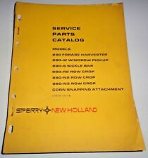 New Holland 890 Forage Harvester & Attachments Parts Catalog Manual Book NH