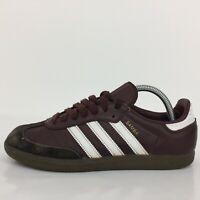 Adidas Samba Burgundy Leather Sports Sneaker Trainer CQ2153 Men UK 7 Eur 40
