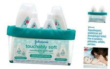 Johnson's Baby Touchably Soft Newborn Baby Gift Set For New Parents, Baby Bath &