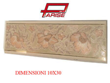 Listello fascia decoro piastrella bicottura rivestimento ceramica bagno 10x30