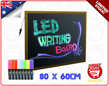 LED Neon Fluorescent Writing Menu Sign Board 80x60cm Restaurant Markers GOLD
