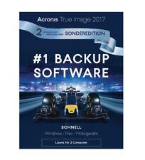 Acronis True Image 2017, Sonderedition 1+1(2 Geräte)Dauerlizenz, PC/Mac,Download