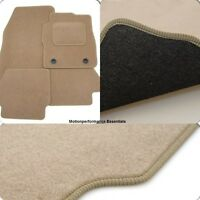 Perfect Fit Beige Car Floor Mats BMW 3 Series E46 Convertible (00-07) - Heel Pad