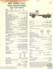 Truck Brochure - Reo - E-216 - Gold Comet Engine - 1949 (TB520)