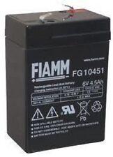 Batteria al Piombo Ricaricabile FIAMM Fg10451 6v 4 5ah per Lampade emergenza