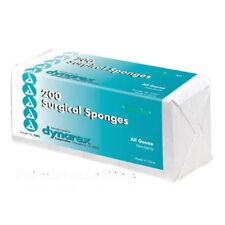 Surgical Gauze Pad Sponges 4 x 4 Non Sterile Woven Cotton 8 ply 200