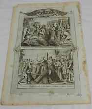 1784 Antique Print/MARTYRDOM BY BURNING AT THE STAKE/Book of Martyrs/A