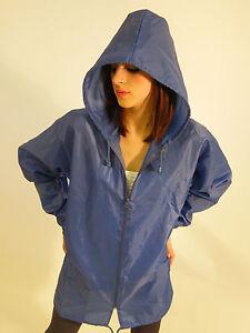 New Raincoat Lightweight Rain Coat Jacket Mac Kagoule Cagoule Blue