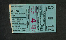 1973 Mothers of Invention Zappa concert ticket stub Brooklyn Over Nite Sensation