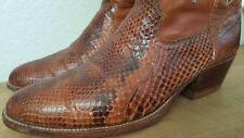 Men's DAN POST Snakeskin Exotic Honey Comb Brown COWBOY BOOTS sz 10.5 D