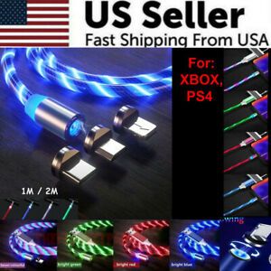 LED Light Up Charger Charging Cable USB Cord For PS4 XBOX Android Huawei Samsung