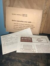 Wards Airline Radio -Owners Manual & Service Tips 1947.