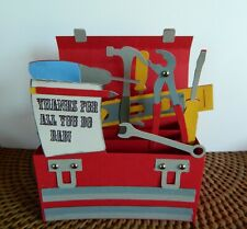 Handmade Pop Up box Card 3-D Exploding TOOL BOX! Thanks for all you do DAD!