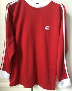 Gap Kids Long Sleeved Fleece Lined Athletic Jersey Red w/White Trim Boys Sz XXL