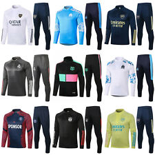 Newest Kids Boys Soccer Tracksuit Football Sportswear Tops Bottoms Outfits