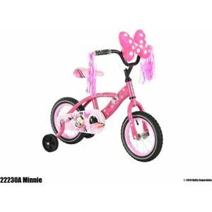 "30cm (12"") Huffy Disney Minnie Mouse®  Kids Bicycle Bike Girls Training Wheels"
