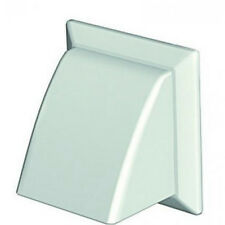 """150mm 6"""" white cowl with non return flap for core vent / extractor fan etc"""