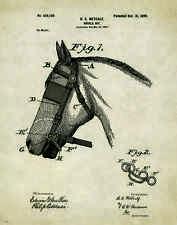 Horse Rodeo Patent Print Art Poster Western Antique Cowboy Saddle Spurs PAT243