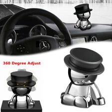 Black Hat Man 360°Rotation Magnetic Phone Mount Holder Stand Dashboard Accessory