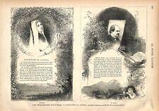 Notre-Dame de Lourdes par Henry Lasserre Bernadette & Edmond Morin GRAVURE 1876