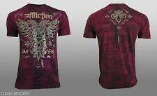 Affliction Men's Atol Tee Shirt Burgundy Lava Wash 3X-Large