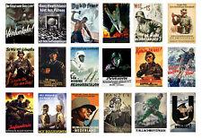 1/32 scale model German World War 2 propaganda posters WW2 Germany