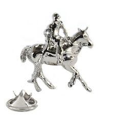 3D Polo Player Metal Pin Badge dressage equestrian horse racing NEW AJTP175