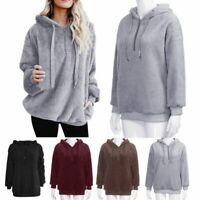 Fashion Womens Winter Fleece Hooded Hoody Sweatshirt Hoodies Winter Jumper Tops