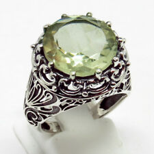 Green Amethyst 925 Sterling Silver Ring Size -9.5 (Rl) ARCT1057-18