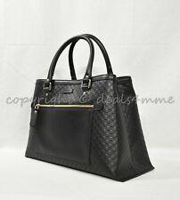 d1c78204f31 NWT Gucci Micro Guccissima Medium Top Handle Tote with Detachable Strap in  Black