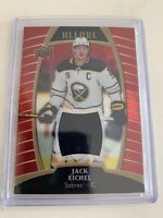 2019-20 Upper Deck Allure Red Rainbow Game Used Jersey Jack Eichel
