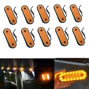 10x Amber 20 LED Indicator Side Marker Light Lamp Heavy Truck Lorry Trailer 24V