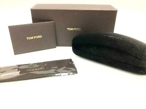 NEW AUTHENTIC TOM FORD EYEGLASSES SMALL SUEDE CASE, BOX & SEALED CLEANING CLOTH