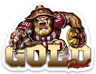 "San Francisco 49ers ""Gold Rush"" NFL Football Character Type MAGNET"