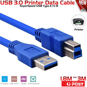 USB 3.0 Printer Data Cable SuperSpeed USB Type A To B  For Brother Dell HP Xerox