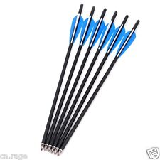 "6 Pcs 20"" Crossbow Bolts Premium Carbon Arrows Hunting Archery Dead Strike"